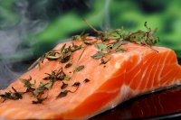 Salmon and herb dish